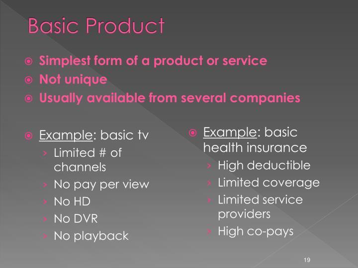 Basic Product