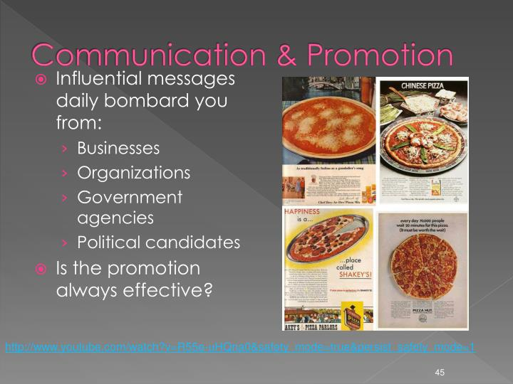 Communication & Promotion