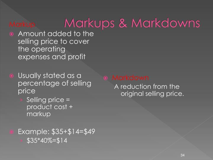 Markups & Markdowns