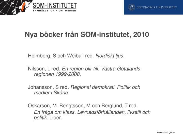 Nya böcker från SOM-institutet, 2010
