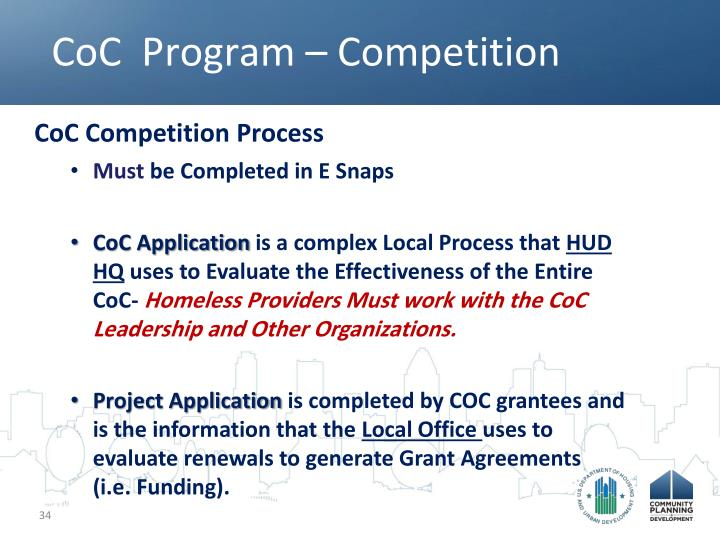 CoC  Program – Competition