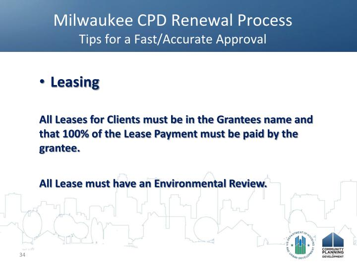 Milwaukee CPD Renewal Process