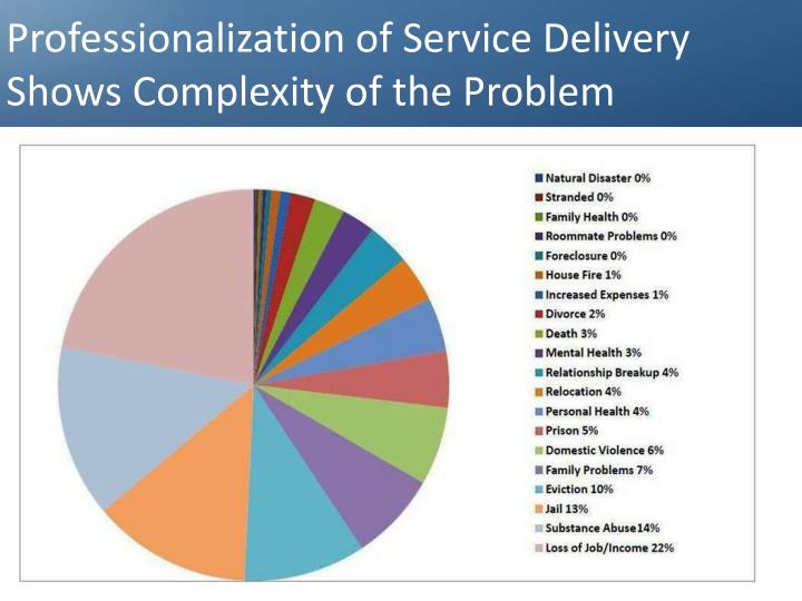 Professionalization of Service Delivery Shows Complexity of the Problem