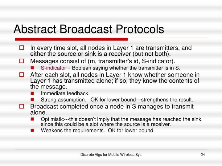 Abstract Broadcast Protocols