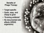 benefits of phage therapy