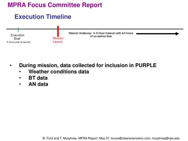 MPRA Focus Committee Report