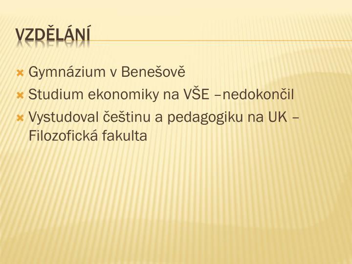 Gymnázium v Benešově