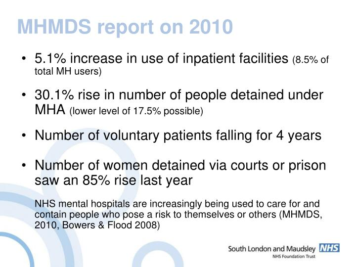 MHMDS report on 2010