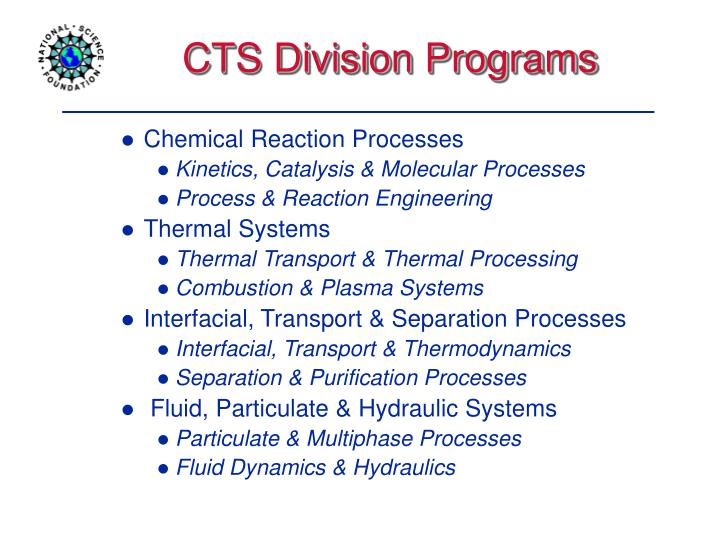 CTS Division Programs