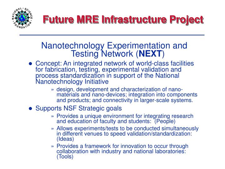 Future MRE Infrastructure Project