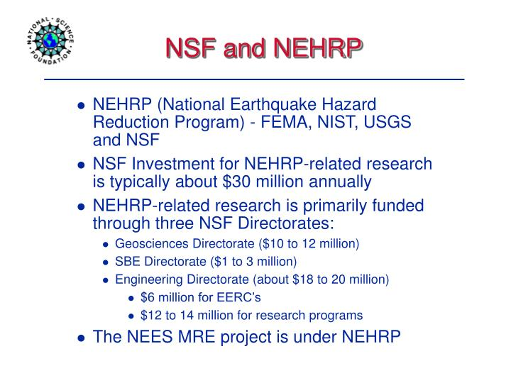 NSF and NEHRP