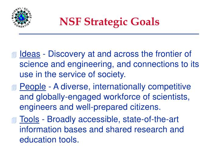 NSF Strategic Goals