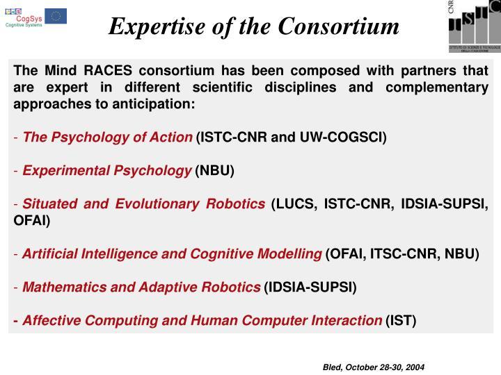 Expertise of the Consortium