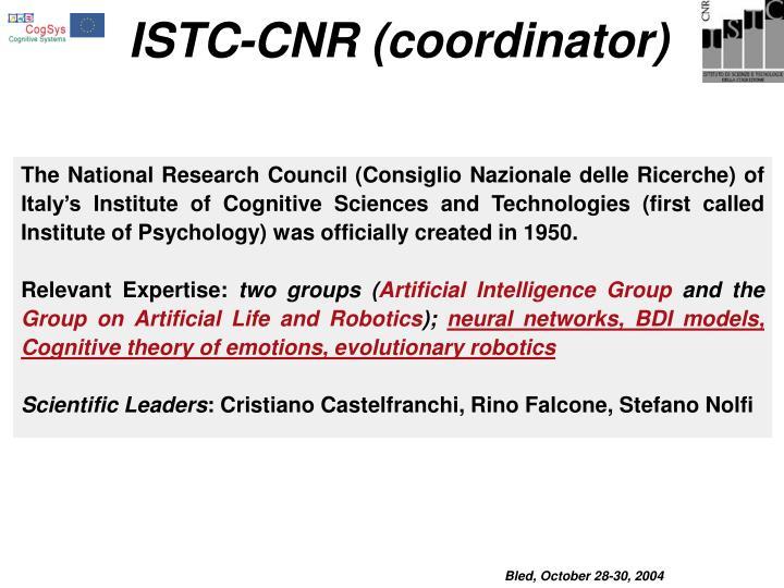 ISTC-CNR (coordinator)