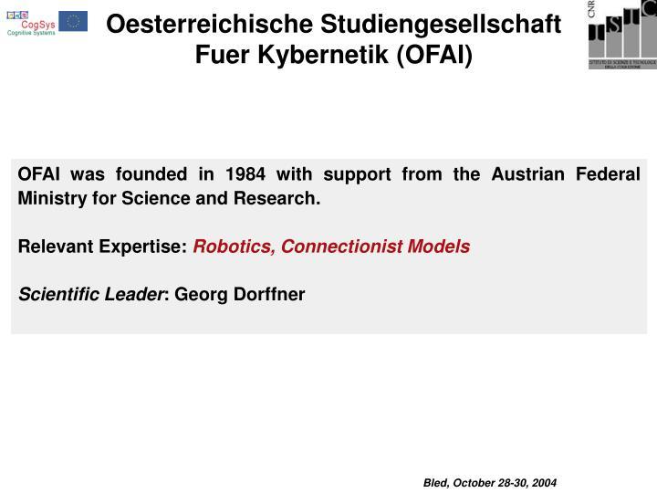 Oesterreichische Studiengesellschaft Fuer Kybernetik (OFAI)