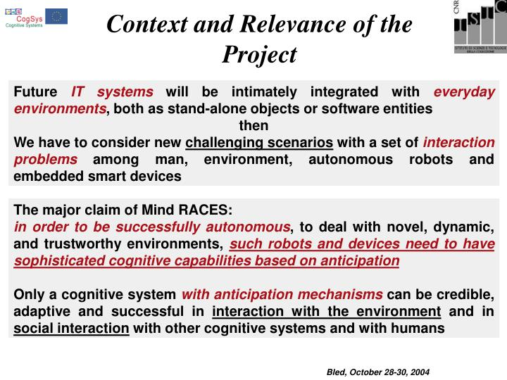 Context and Relevance of the Project