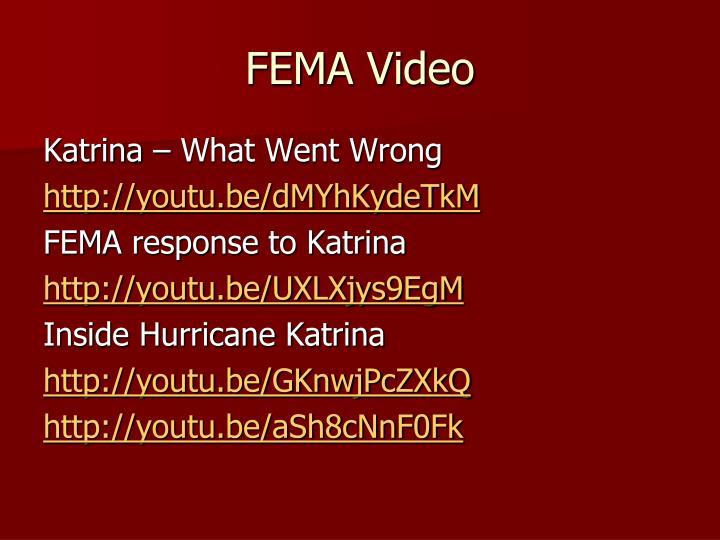 FEMA Video