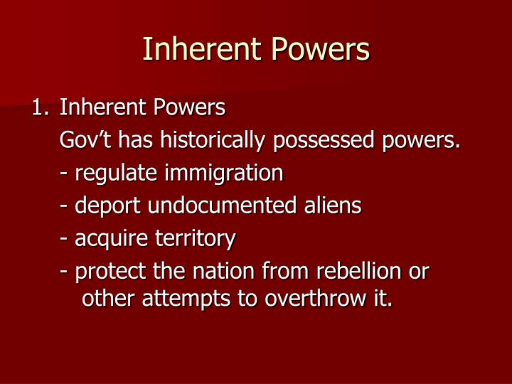 Inherent Powers