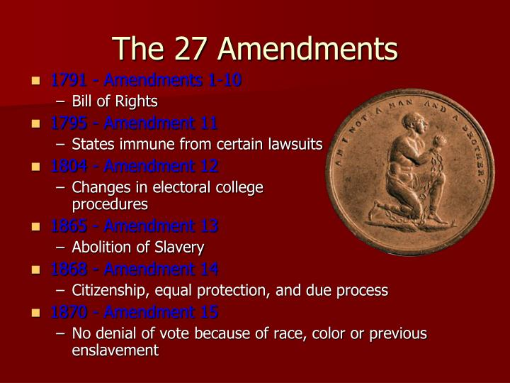 1791 - Amendments 1-10
