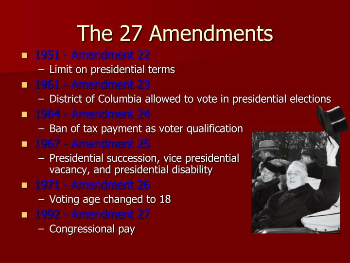 1951 - Amendment 22