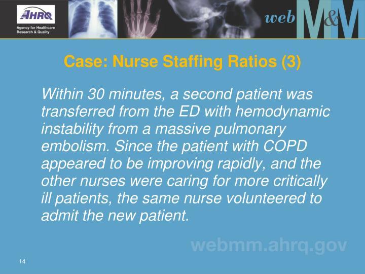 Case: Nurse Staffing Ratios (3)