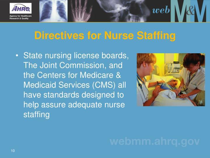 Directives for Nurse Staffing
