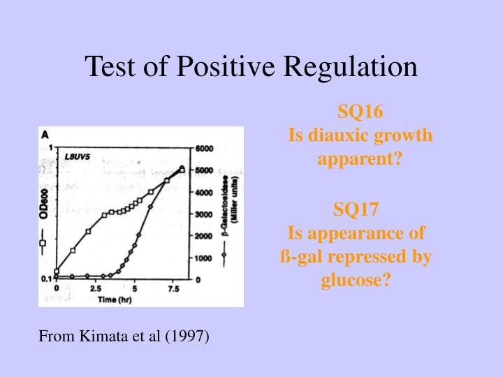 Test of Positive Regulation