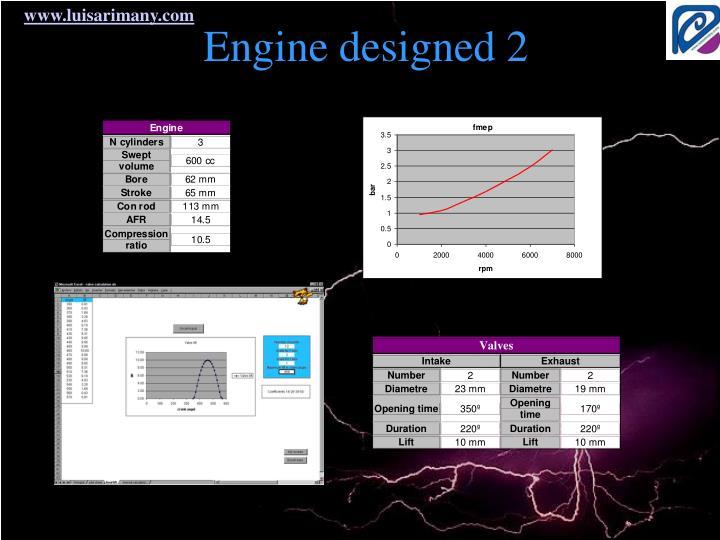 Engine designed 2