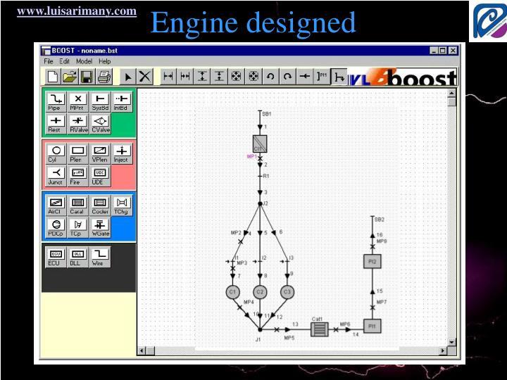 Engine designed