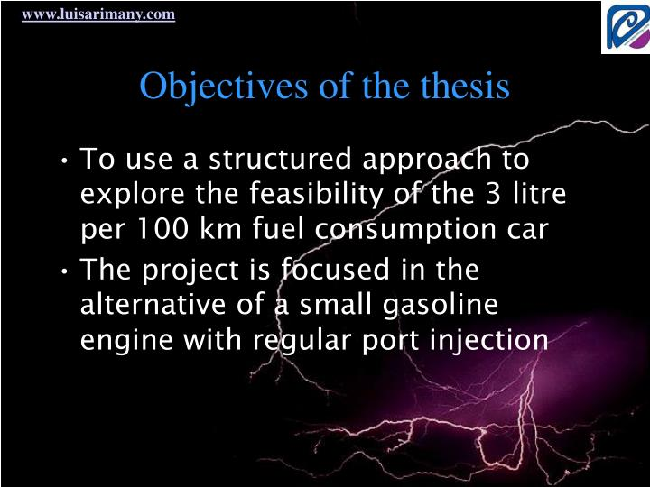 Objectives of the thesis