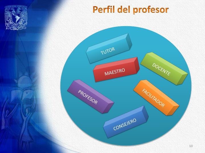 Perfil del profesor