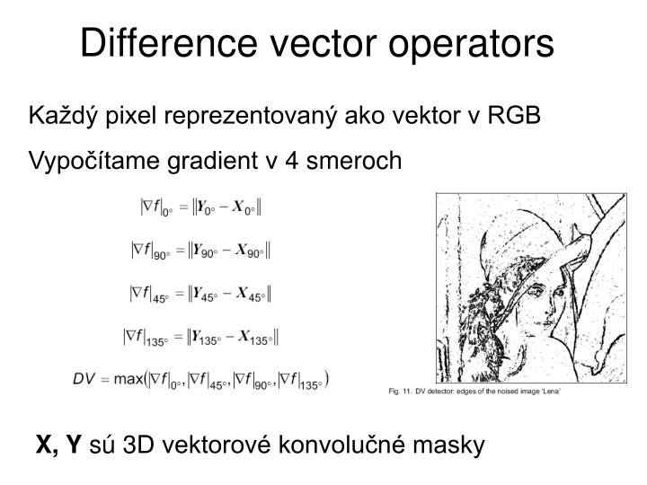 Difference vector operators