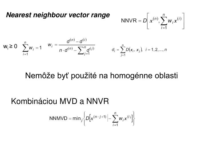 Nearest neighbour vector range