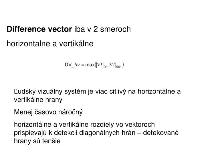 Difference vector