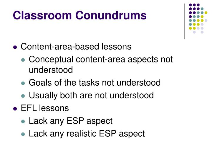 Classroom Conundrums
