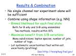 results combination