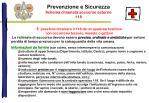 prevenzione e sicurezza schema chiamata soccorso esterno 118