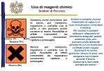 uso di reagenti chimici simboli di pericolo