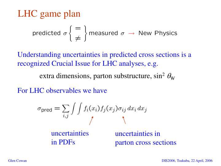 LHC game plan