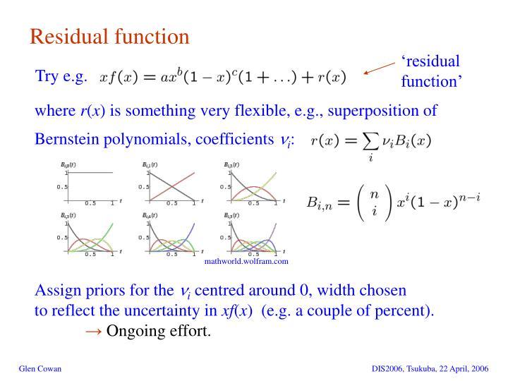 Residual function