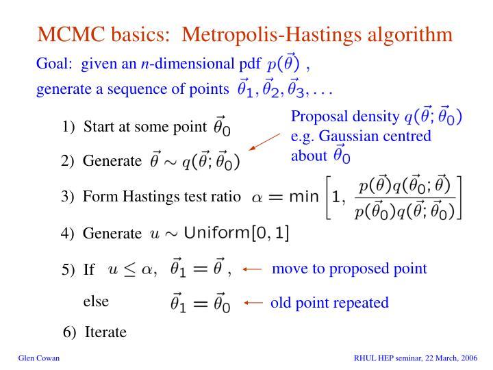 MCMC basics:  Metropolis-Hastings algorithm