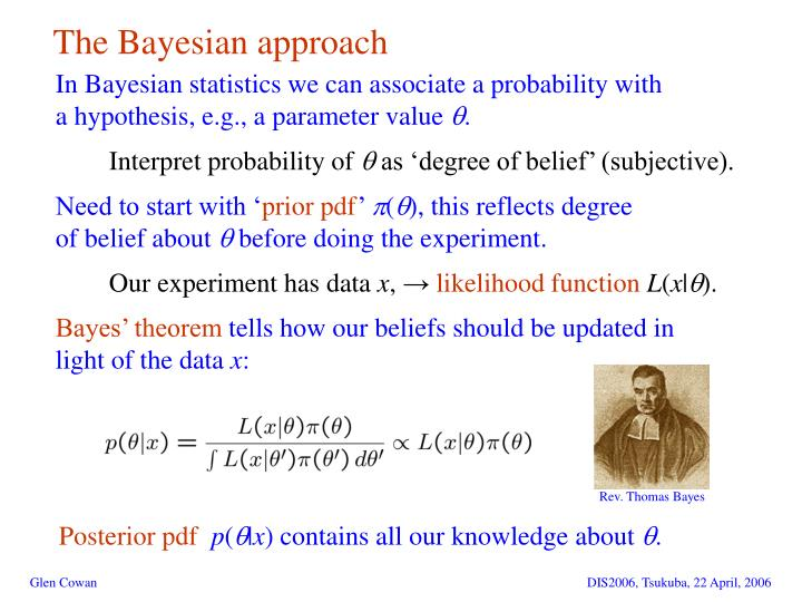 The Bayesian approach