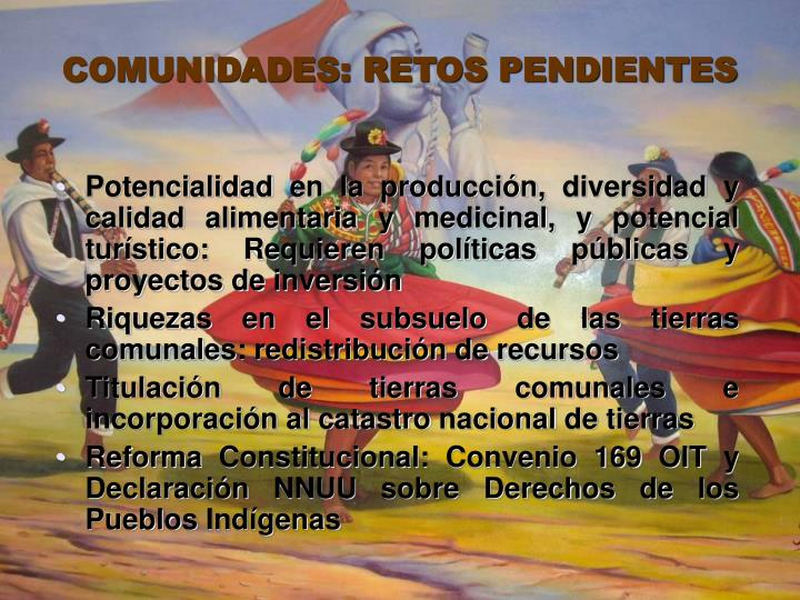 COMUNIDADES: RETOS PENDIENTES