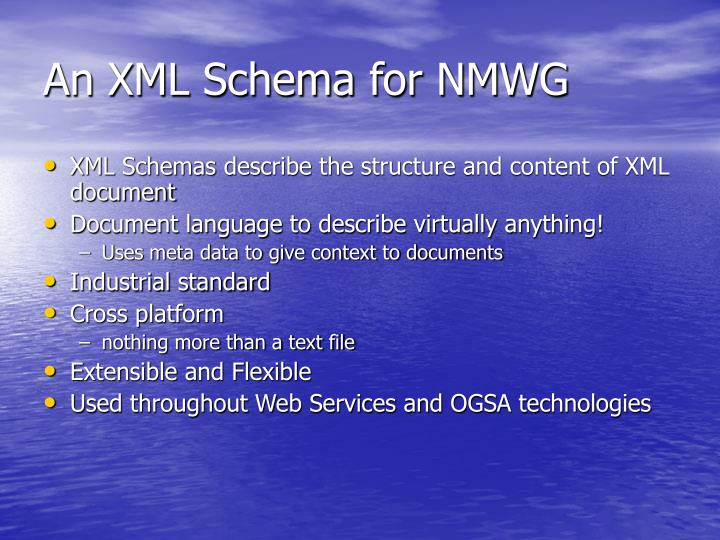 An XML Schema for NMWG