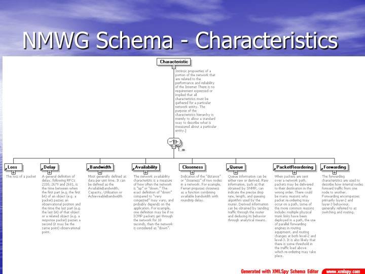 NMWG Schema - Characteristics