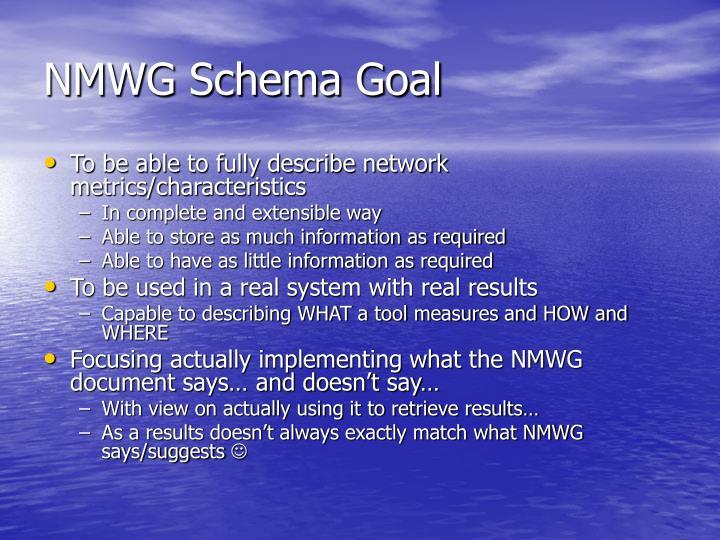 NMWG Schema Goal