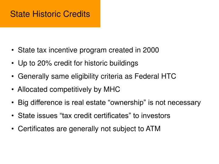 State Historic Credits