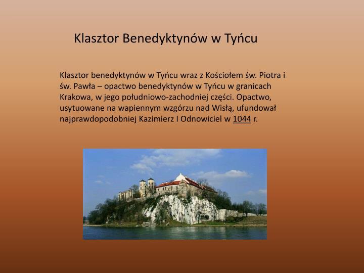 Klasztor Benedyktynów w Tyńcu
