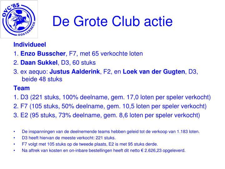 De Grote Club actie