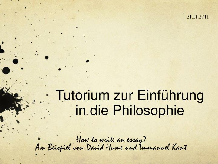 Tutorium zur einf hrung in die philosophie